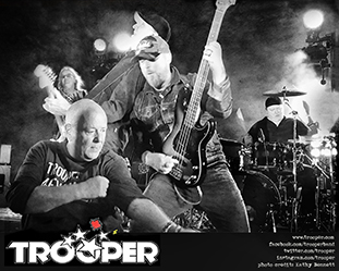Promotional photo for the rock band Trooper, photo credit Kathy Bennett