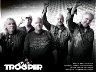 Promotional photo for the rock band Trooper